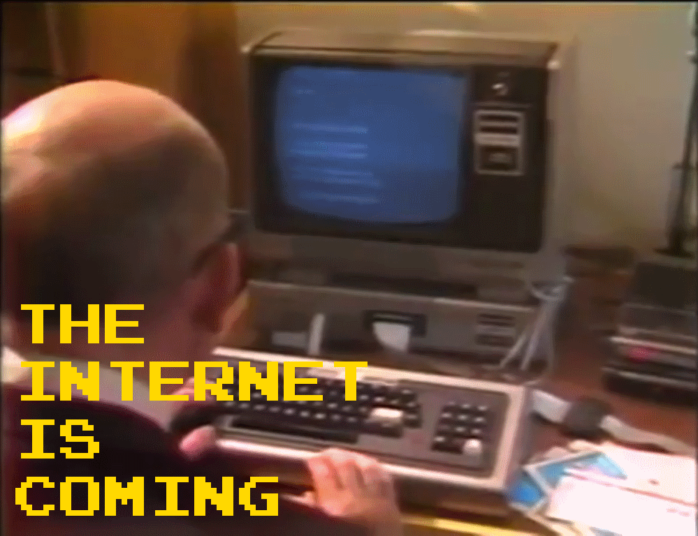 Cover Pic for 1981 news report about the internet slowly replacing news papers
