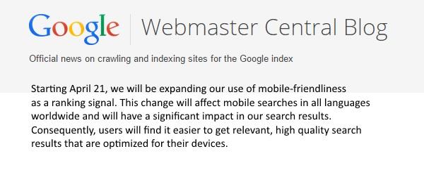 Google Mobilepocalypse