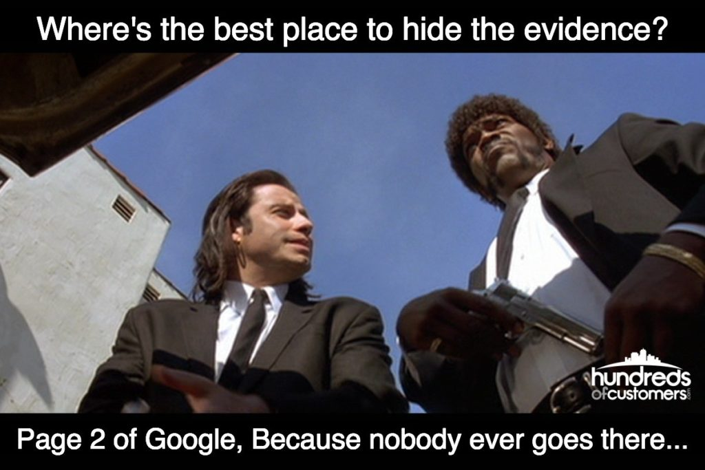 page 2 of google hide the evidence or body joke pulp fiction